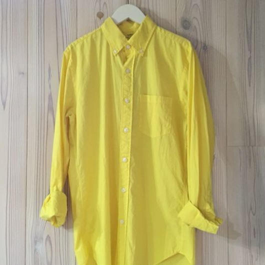 【SALE】J.CREW LIGHT WEIGHT shirt イエロー XS