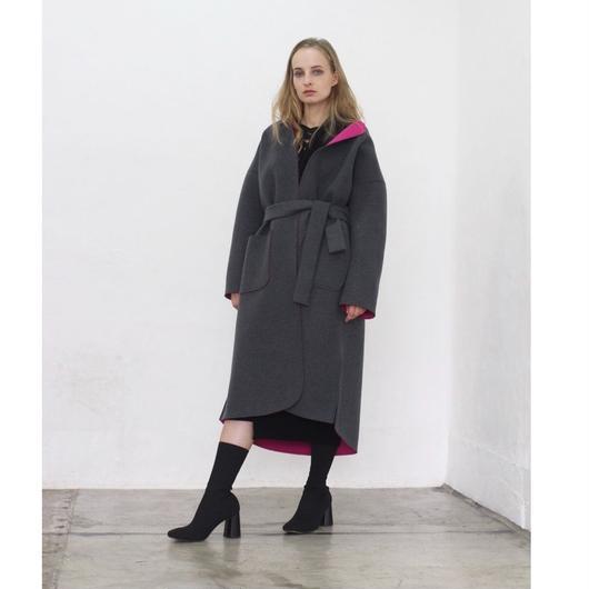 (original)neo coat(チャコール×ピンク)