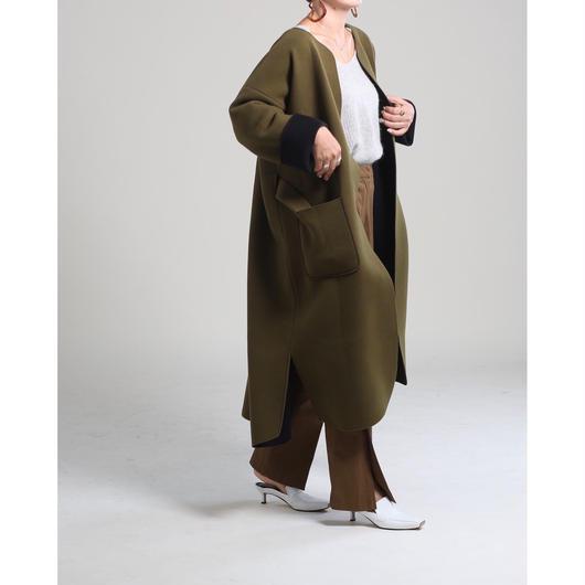 (original)neo coat(カーキ×ブラック)