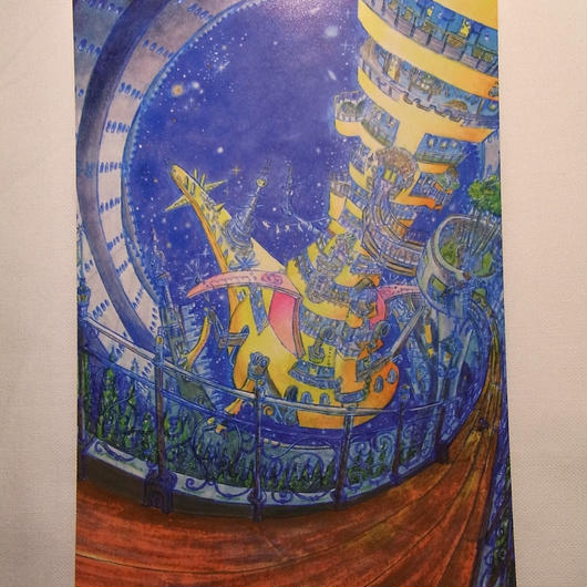 『宇宙をskipする時間』『てのひらに眠るプラネタリウム』  ポストカードA