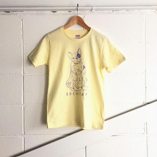オリジナルTシャツ 「ワタシモキャンプニツレッテッTee」カスタード×ラベンダー