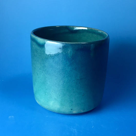 【Y026】シンプルストレートな湯呑み茶わん(瑠璃&碧・うさぎ印)