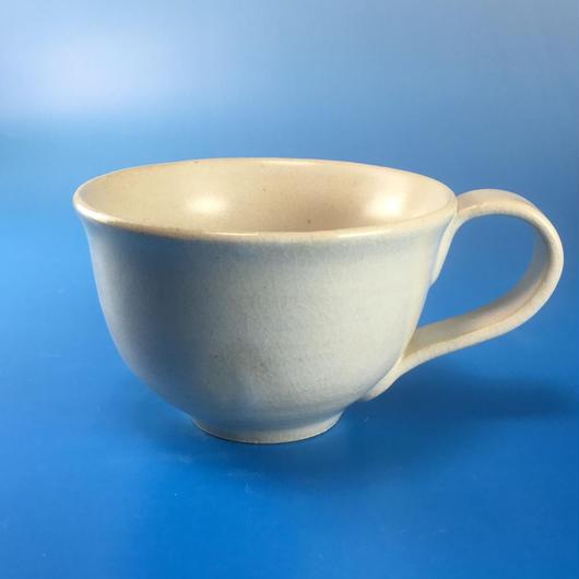 【M021】マットホワイトのマグカップ(うさぎ印)