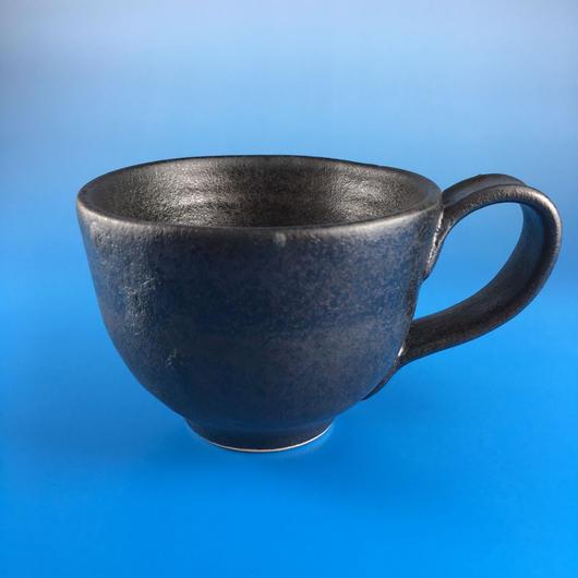 【M006】マットブラックのマグカップ(うさぎ印)