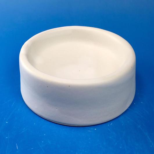 【R036】スーパー白マットのうさぎ様用食器・Sサイズ(スーパー白マット・無地・白土・うさぎ印)