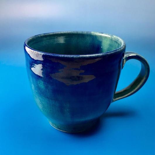 【M002】海の色のマグカップ(うさぎ印)