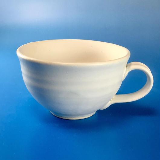 【M010】マットスーパーホワイトのマグカップ(うさぎ印)