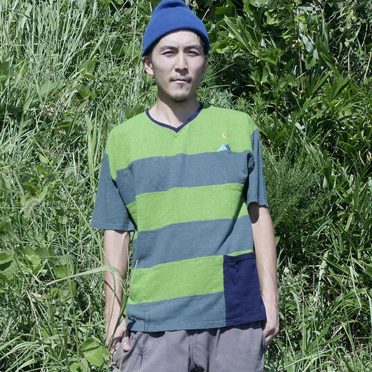 Teppo Border T-shirts Green