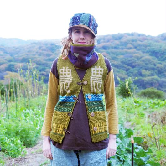 農ニットベスト 手編み ~お洒落なあの子は畑がお好き〜 レディース