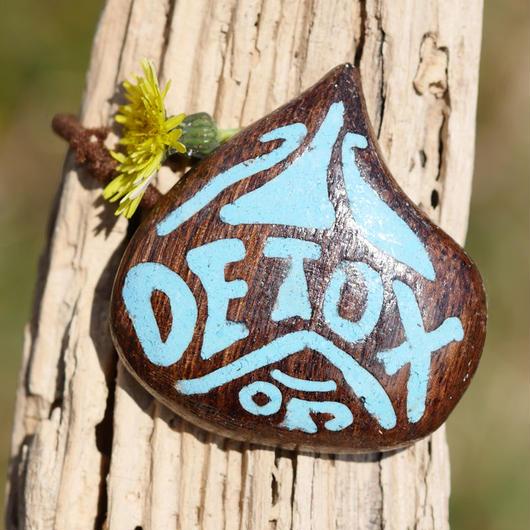 ウッドへアゴム 水命デトックス手彫り天然石