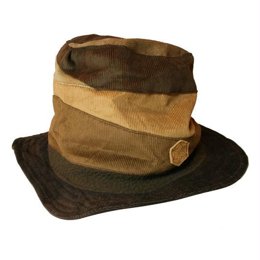 Pachwork corduroy hat long