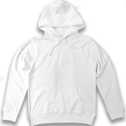 フーデットパーカー(白×白)
