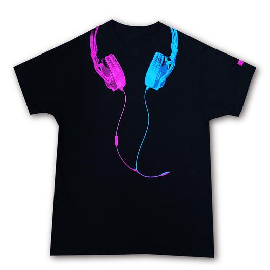 ヘッドフォンTシャツ【Black】