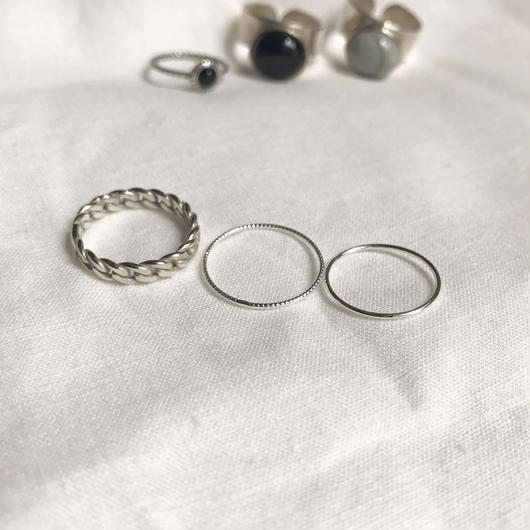 silver925 ring set/ chain