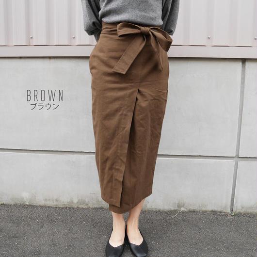 ハイウェストラップスカート(brown)
