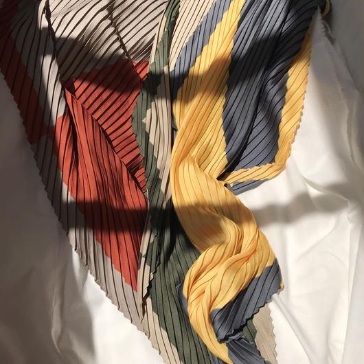 ヴィンテージカラースカーフ red/khaki/yellow/orange