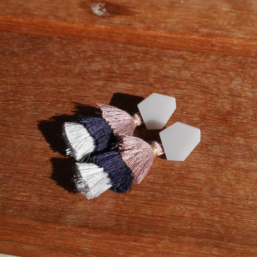 ミニタッセルピアス/purple
