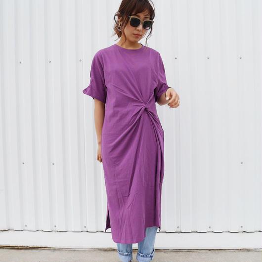 【 purpleラスト1点】カットソーワンピース
