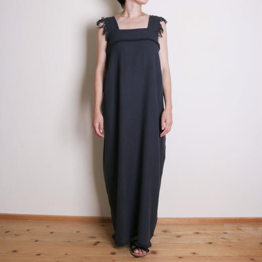 【&her】Weave  Dress/CharcoalGray ⁂Delivery:8月10日前後⁂