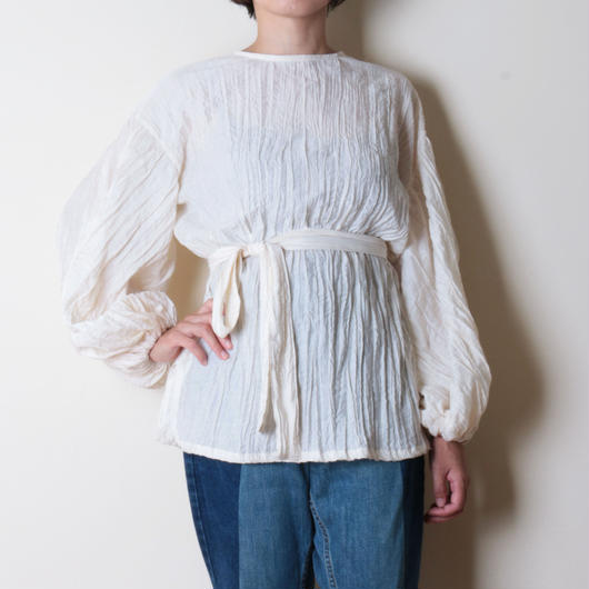 【&her】Washer Blouse/Cream
