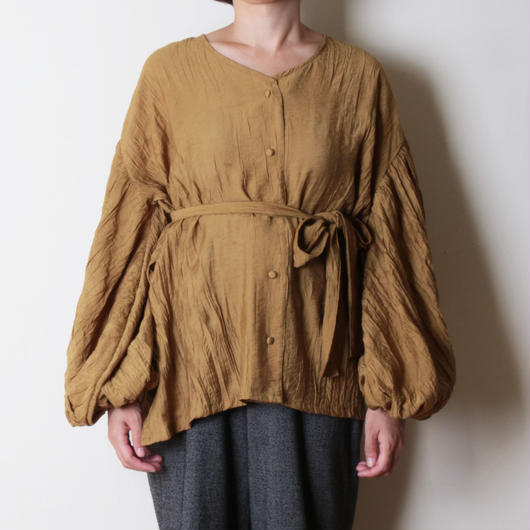 【&her】Washer Blouse/Mustard