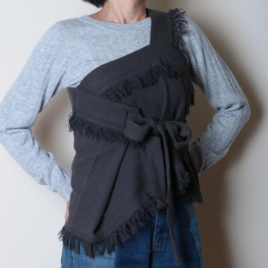 【&her】Weave Vest/CharcoalGray