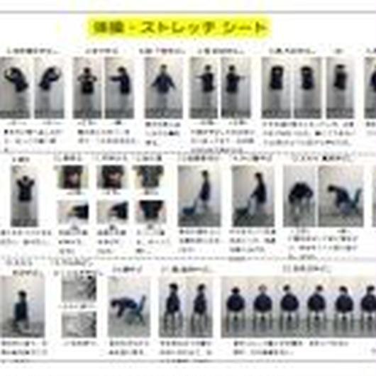 【ダウンロード版】「写真があるからわかりやすい」高齢者もできるじっくり体操ストレッチシート