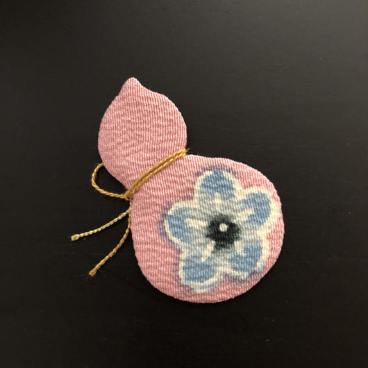 押絵 瓢箪 青い花