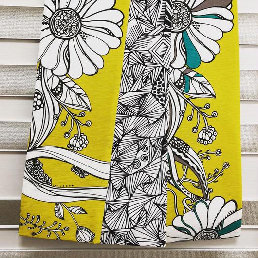 monmecciな帯 半幅帯 イチョウ&花