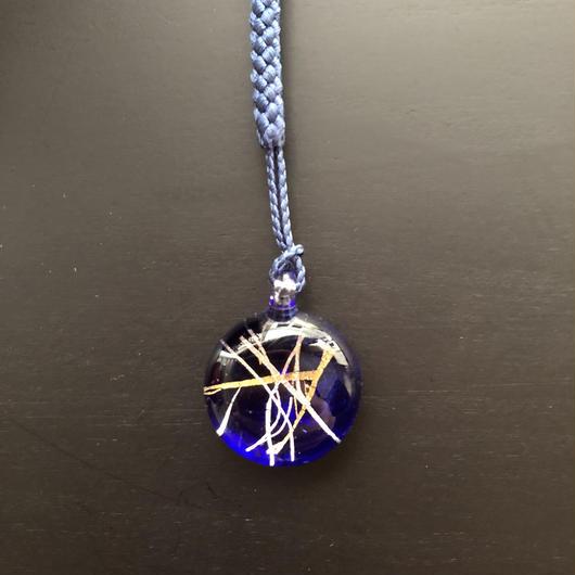 nodo88 ベネチアングラス根付 藍