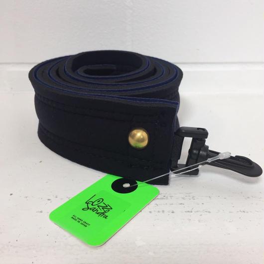 Lozz Sandra/shoulder strap /navy x black /gold studs