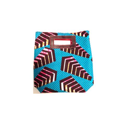 Mini Akello -幾何学ブルー -(小さめサイズ)