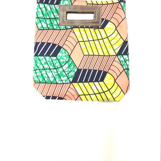 Mini Akello - ピンク幾何学模様 -(小さめサイズ)