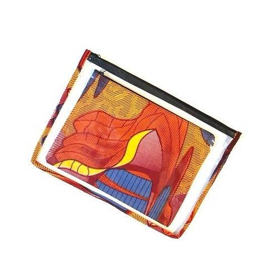 Transparent Pouch L -赤い幾何学-