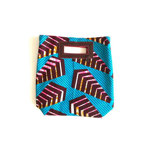 Mini Akello - ブルーの幾何学 -(小さめサイズ)