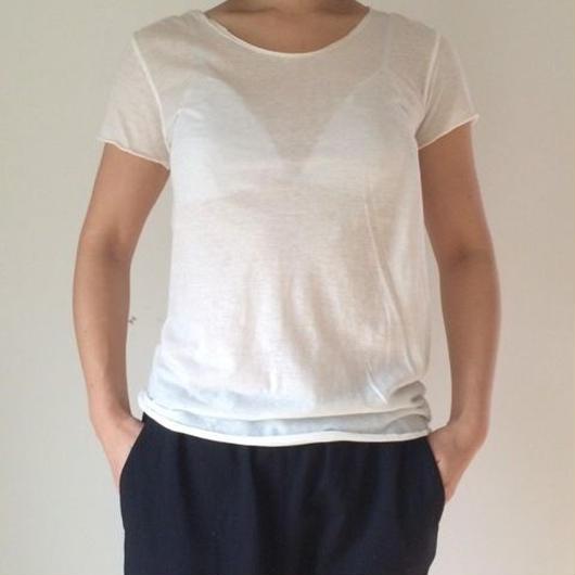 ケイト半袖Tシャツ オゾンホワイト