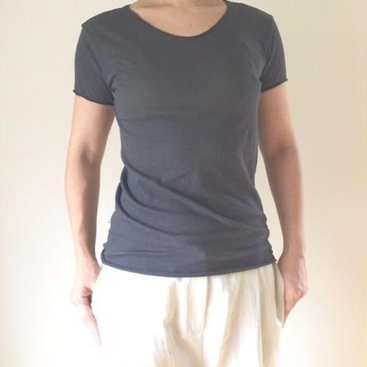 ケイト半袖Tシャツ グレー・ライトコーティング
