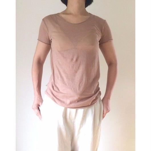 ケイト半袖Tシャツ ピンクベージュ・ライトコーティング