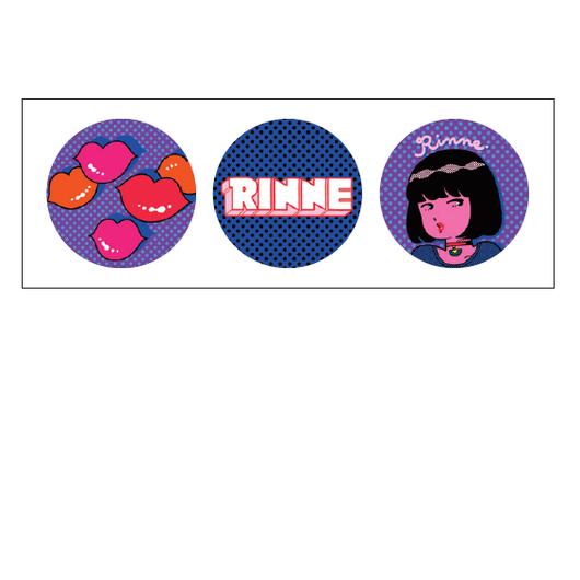 【バッジ】Rinne002「sexyイラスト」バッジ3set