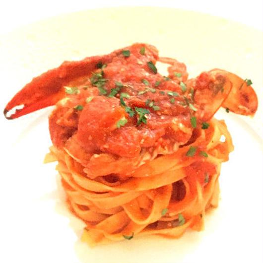 低糖質パスタ(タリアテッレ)&渡り蟹のトマトソース