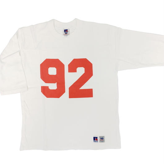 "RUSSELL ""PRO COTTON""  3/4 SLEEVE FOOTBALL T [OFF WHITE] RC-17FW717"