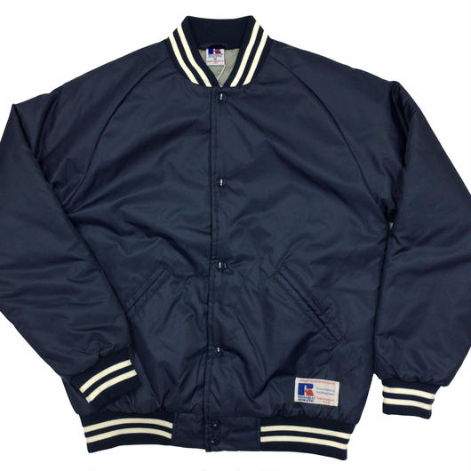 "RUSSELL ""GAME JACKET"" STADIUM JACKET  [NAVY]  RC-17FW737"