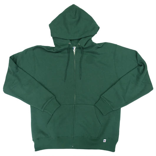 "RUSSELL ""NU BLEND"" ZIP UP HOODIE [FOREST]  RC-17FW711"
