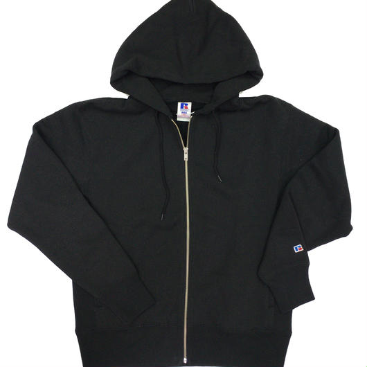 "RUSSELL ""PRO COTTON"" ZIP UP HOODIE [BLACK]  RC-17FW701"