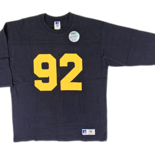 "RUSSELL ""PRO COTTON""  3/4 SLEEVE FOOTBALL T [NAVY] RC-17FW717"