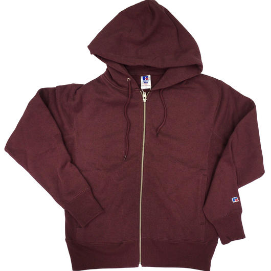 "RUSSELL ""PRO COTTON"" ZIP UP HOODIE [BURGUNDY]  RC-17FW701"