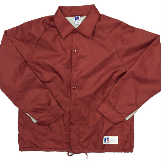 "RUSSELL ""GAME JACKET"" COACH JACKET  [BURGUNDY]  RC-17FW738"