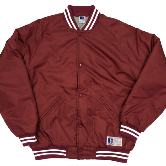 "RUSSELL ""GAME JACKET"" STADIUM JACKET  [BURGUNDY]  RC-17FW737"