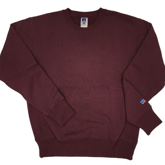 "RUSSELL ""PRO COTTON"" CREW NECK SHIRTS [BURGUNDY]  RC-17FW703"