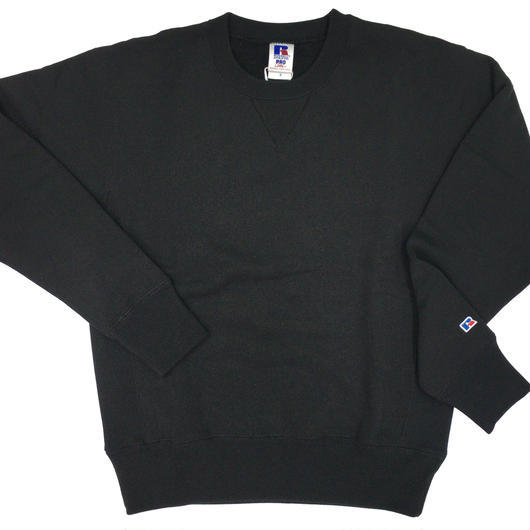 "RUSSELL ""PRO COTTON"" CREW NECK SHIRTS [BLACK] RC-17FW703"